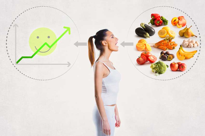 Healthy Rohkost mentale Auswirkungen