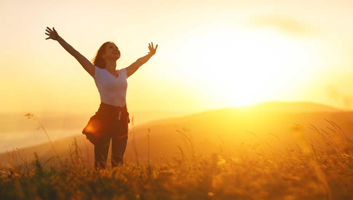 Selbstvertrauen Definition glücklich und im Vertrauen